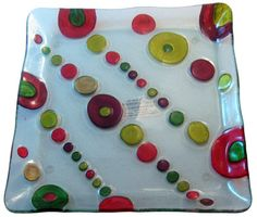 Dots!  Glass Fusion.  Cute appetizer plate or display:)