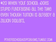 Fundraising...So Annoying! Like making apple pies on a Saturday!