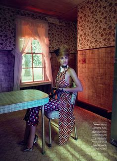 Franziska Frank in Prada, photographed by Jean François Campos for Marie Claire US October 2012