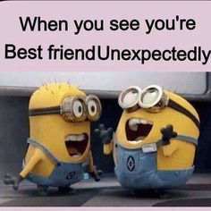 i'm pretty sure we look like this WHENEVER we see each other lol