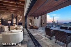 Indoor/outdoor patio with movable wall - 41188 N 102ND Place, Scottsdale, AZ, 85262