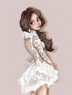 Selena in Marchesa 2014 - Drawing by itslopez