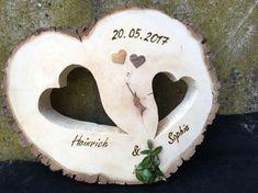 Hochzeitsscheibe aus Holz