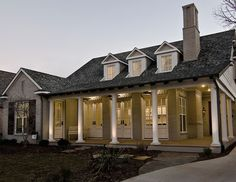 Wrap-Around Porch & Gas Lamps...Does it get any more Southern!?