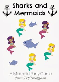 Pin The Tail On The Mermaid Free Printable We Like To Party