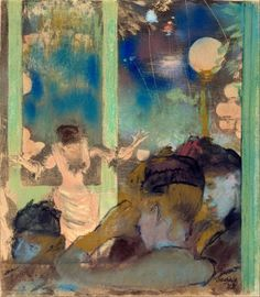Mademoiselle Becat at the Cafe des Ambassadeurs - Edgar Degas 1877-85Impressionism