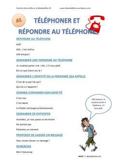 Lexique appels téléphoniques (A1)