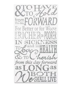 Take a look at this White 'To Have and to Hold' Wall Art by Twelve Timbers on #zulily today!