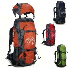 d0b6664c6bce Men women s Waterproof Outdoor Sport 70L Travel Hiking Camping Backpack  nylon