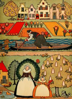Olive Beaupre Miller. Endpaper for Tales Told in Holland.