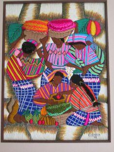 dia de mercado Embroidery Designs, Embroidery Kits, Mollie Makes, Guatemalan Art, Human Painting, Filipino Art, Brazilian Embroidery, Tips & Tricks, Japanese Embroidery