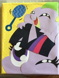 #895533 - artist:gopherfrog, baby spike, canvas, canvas craft, filly, filly twilight sparkle, papercraft, rattle, safe, spike, twilight sparkle - Derpibooru - My Little Pony: Friendship is Magic Imageboard