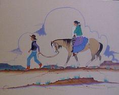 Native American CHARLIE SINGER PAINTING TALK THE WALK | #172296639