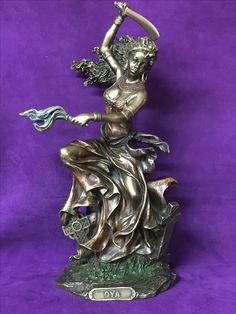 Orisha Oya Oya Goddess, Goddess Warrior, Warrior Queen, Black Women Art, Black Art, Oya Orisha, Statues, Summoning Spells, Yoruba Religion