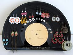 DIY Vinyl Record Earring Holder