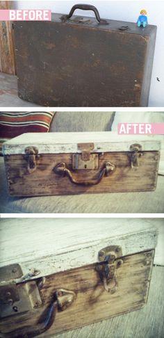 BEFORE & AFTER de una vieja maleta!