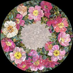 Mosaic table top Dogrose flower To be able to have a great Modern Garden Decoration, it's beneficial to be available … Mosaic Tile Table, Mosaic Tray, Mosaic Tile Art, Mosaic Artwork, Mosaic Glass, Mosaic Table Tops, Stained Glass, Marble Mosaic, Glass Art