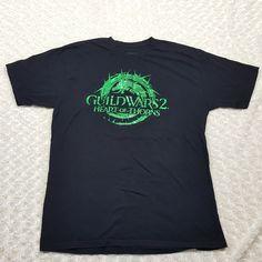 Guild Wars 2: Heart of Thorns Green Metallic Promo Pax South T-Shirt Men's XL