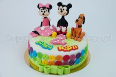 mickey minnie and pluto cake, tort z myszką miki, minnie i pluto,