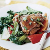 Red-Cooked Chicken with Stir-fry Vegetables, Slow Cooker-Style