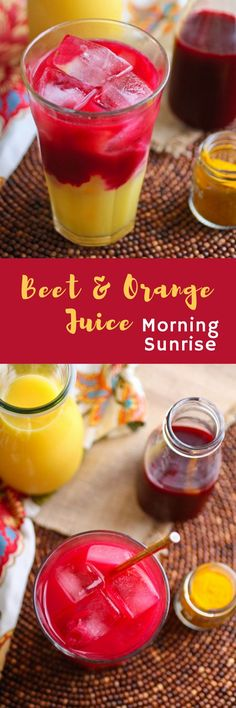 Beet & Orange Juice Morning Sunrise will make your day! You'll love the colors and flavors in this drink!