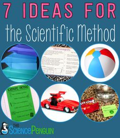 7 ideas for teaching the scientific method to your students: an experiment, task cards, video clip, games, and a free printable