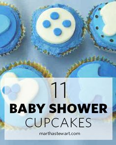 These cute desserts from our readers are sure to delight the new mom and her guests. Light Desserts, Great Desserts, No Bake Desserts, Dessert Recipes, Baby Shower Desserts, Baby Shower Cupcakes, Fun Cupcakes, Cupcake Art, Cupcake Ideas