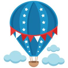 Daily Freebie Miss Kate Cuttables--Patriotic Hot Air Balloon SVG scrapbook cut file cute clipart files for silhouette cricut pazzles free svgs free svg cuts cute cut files Ballon Illustration, Hot Air Balloon Clipart, Vintage Airplane Party, Air Ballon, Cute Clipart, Silhouette Design, 4th Of July, Balloons, Crafts For Kids