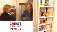 Build a Pull Out Pantry Slide Out Pantry, Pull Out Pantry, Building Extension, Kitchen Pulls, Diy Kitchen Cabinets, Pantry Design, Pantry Storage, Home Hacks, Home Projects