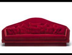 Nella Vetrina Red Carpet luxury Italian Sofa Upholstered in Red Fabric