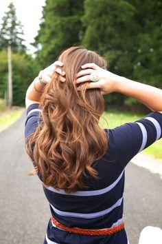 Wavy & brown. #hair