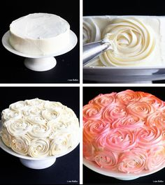 rose cake - love the pink