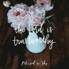 The Lord has come through for me hundreds of times. In serious, scary circumstances and in seemingly small, everyday ways. He is trustworthy. | Women's Daily Devotion | Catholic | Inspiration | Trust