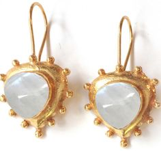 Vezoora Moonstone Earrings    Vezoora  drop earrings with moonstone gemstones.this earrings are so light waited and you can wear daily wardrobe also.Vezoora Gemstone Earrings- Gemstone size, shape, color, texture may vary from image as we use only natural gemstone which are different from one another.