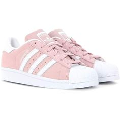 Adidas Originals Superstar Sneakers (104 AUD) ❤ liked on Polyvore featuring shoes, sneakers, adidas, trainers, zapatos, pink, adidas originals sneakers, adidas originals, adidas originals trainers and pink shoes