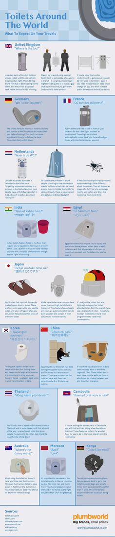 Our new infographic takes a look at the wild differences between toilets around the world.