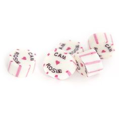 Design your own personalised rock candy. Custom lollies for wedding & promotional events. Initials & heart for weddings, logo or business name for corporate Wedding Initials, Wedding Candy, Wedding Gallery, Personalized Wedding, Favors, Presents, Guest Gifts, Gifts, Little Gifts