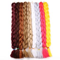 Hair Extensions & Wigs Hair Braids Objective Aigemei Synthetic Kanekalon Braiding Hair For Crochet Braids False Hair Extensions African Jumbo Braids For Women 22 Inch And To Have A Long Life.