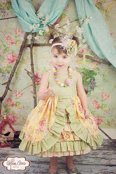 Peek A Boo Ruffle Dress - Girls Ruffle Dress -  Birthday Dress - (Sizes 12 Months-4T). $84.00, via Etsy.