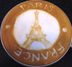 #Latte art .·:*¨¨*:Coffee♥Art·:*¨¨*:·. #Eiffel #Paris
