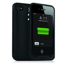 Mophie Juice Pack Plus feste Schutzhülle iPhone 4 / 4S +130% pap