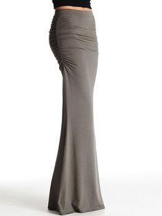 Ruched Maxi Skirt-- I could totally make this