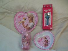 1996 Barbie Doll Child size Dishes Place Setting On Sale at OldBaloo