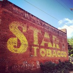 star tobacco. ghost sign.