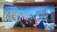 It's beginning to feel a lot like. trade show season! Yes it is just around the corner, so get ahead of the game and start designing your booth today! Fabric Display, Trade Show, Billboard, Printing On Fabric, Backdrops, Corner, Snow, Seasons, Game
