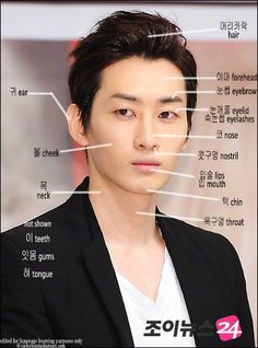 Learn Facial Parts Terms with Super Junior Eunhyuk