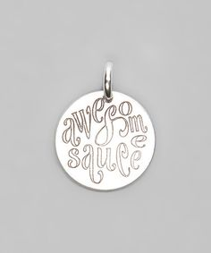 Look what I found on #zulily! Sterling Silver 'Awesome Sauce' Charm #zulilyfinds