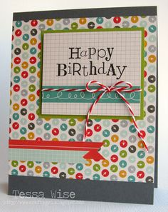 Crafty Girl Designs: A Birthday Card