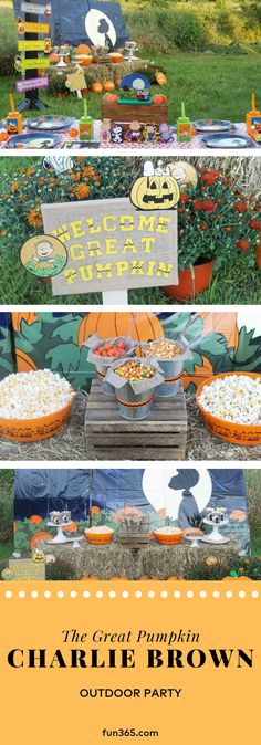 Turn the beloved It's The Great Pumpkin, Charlie Brown movie into the theme for a fun fall party! See how we styled this party while incorporating fun phrases from the movie and making simple DIY projects. Charlie Brown Movie, Great Pumpkin Charlie Brown, It's The Great Pumpkin, Halloween Supplies, Halloween Crafts For Kids, Halloween Decorations, Halloween Party, 3rd Birthday Parties, 2nd Birthday