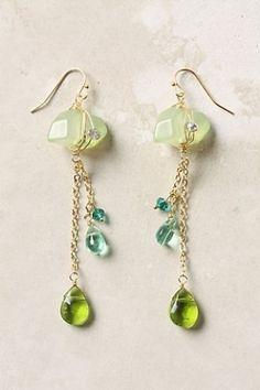 Wire wrap earrings by Jersica Wire Wrapped Earrings, Gemstone Earrings, Beaded Earrings, Earrings Handmade, Pearl Earrings, Chain Earrings, Copper Earrings, Wire Jewelry, Beaded Jewelry
